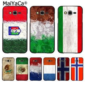 MaiYaCa, Bandera Nacional de Noruega, Países Bajos, Maxica, Italia, funda de teléfono Coque para Samsung J1 J5 J7 J3 Note3 Note4 Note5