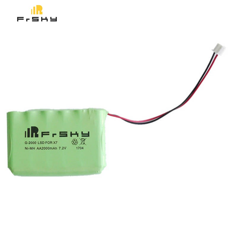 Original New Frsky ACCST Taranis Q X7 Transmitter Spare Part 7.2V AA 2000mAh Remote Control NiMH Battery For RC Models Drone