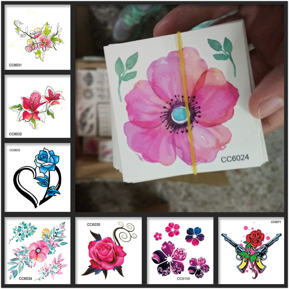 24 Styles Flower Tattoo To Your Chooice 2016 Fashion Small Rose Sun