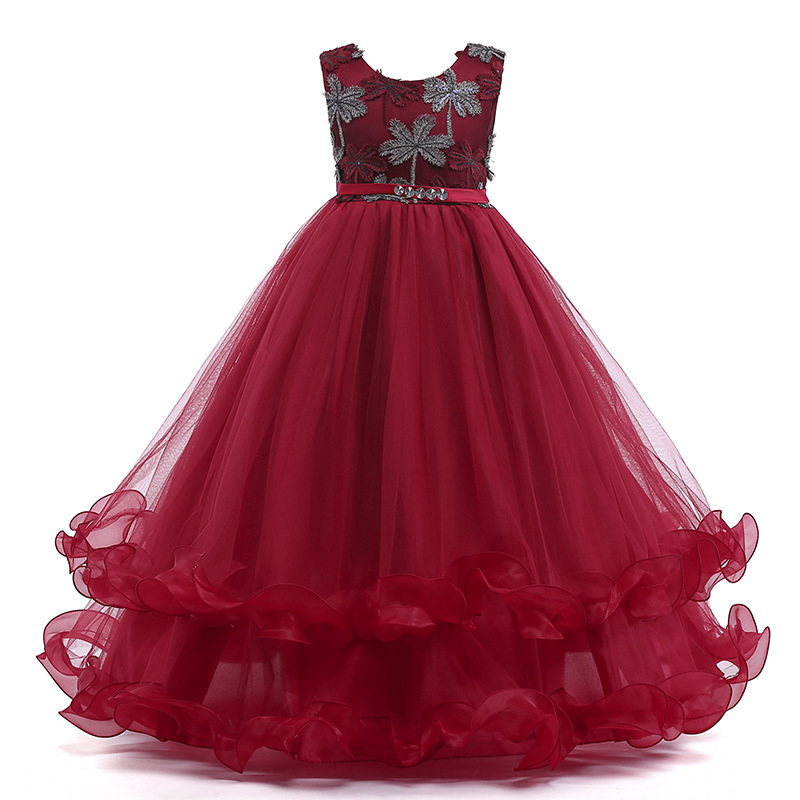 2018   Girls   Pageant   Dresses   Ball Gown Halter Organza Sequined Ruffles   Flower     Girl     Dresses   For Wedding For Little   Girls