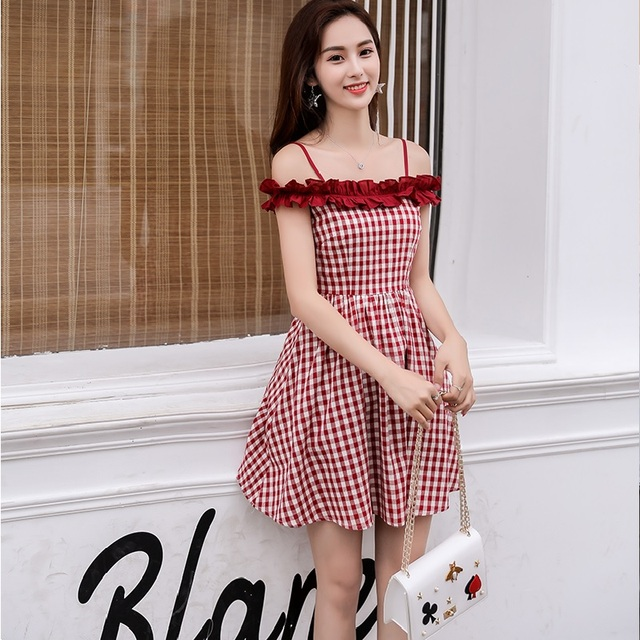 Hollow Out Ruffle Collar red plaid party mini dress Vintage Sexy Female Bodycon Christmas Bottoming Party Dresses Vestido