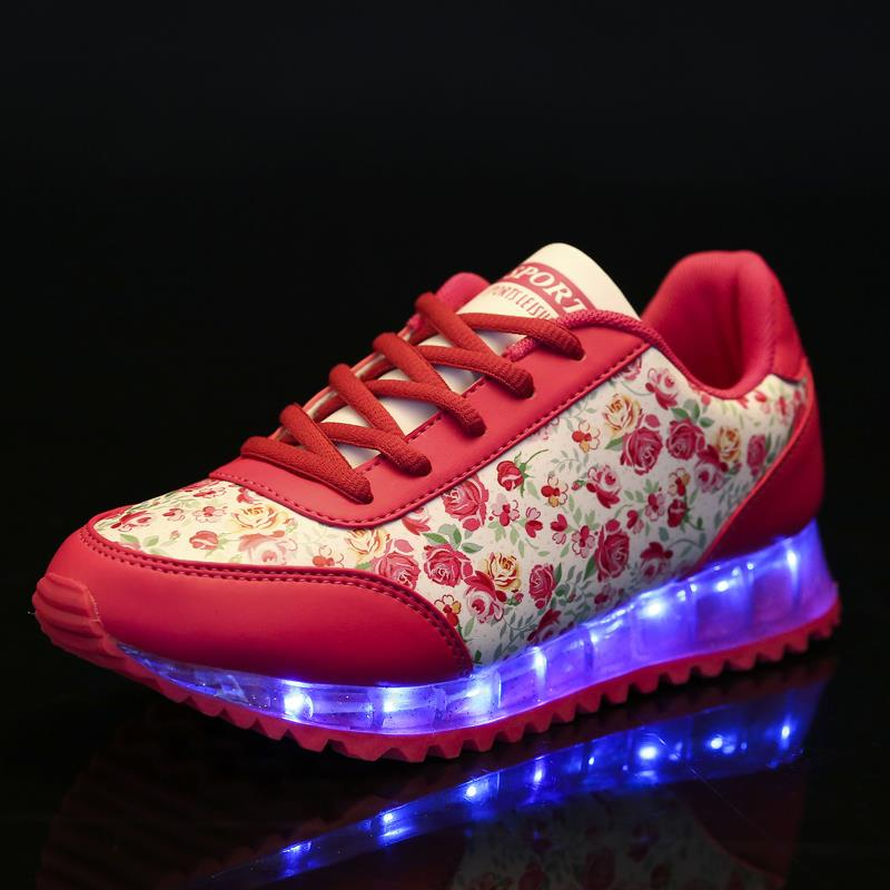 ENLFE EU 35-44 LED Shoes For Adults Women Casual Shoes Super Cool 3 Colors Female Glowing USB Charging LED Lights Shoes NX0896 glowing sneakers usb charging shoes lights up colorful led kids luminous sneakers glowing sneakers black led shoes for boys