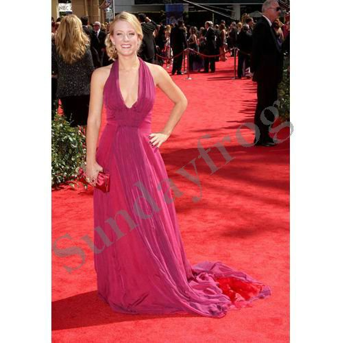 Kristen Quint the 62nd Emmy Awards Red Carpet Celebrity Dress Halter  Chiffon Plunging Neckline Evening Dress Formal Gown-in Evening Dresses from  Weddings ... 4d0df24233e0