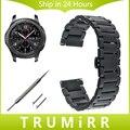 22mm faixa de relógio de aço inoxidável + pinos de liberação rápida para samsung gear s3 clássico fronteira borboleta bracelete pulseira link