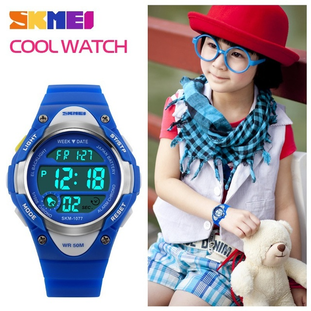 Children Watch SKMEI Sports Kids Boy Girls LED Digital Alarm Stopwatch Waterproo