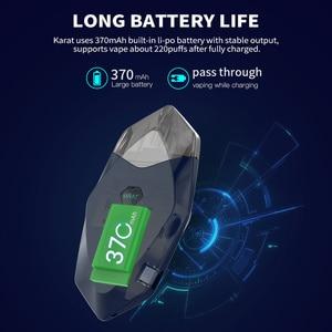 Image 4 - Original Smoant Karat Pod Starter Kit with 370mAh Battery 2ml Quarzt coil Cartridge Pod Magnet connection E cigarette Vape Kit