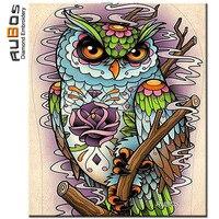 RUBOS Diamond Embroidery Cartoon Abstract Owl Diamond Painting Cross Stitch Mosaic Set Full 3D Pattern Sale New Hobby Home Decor