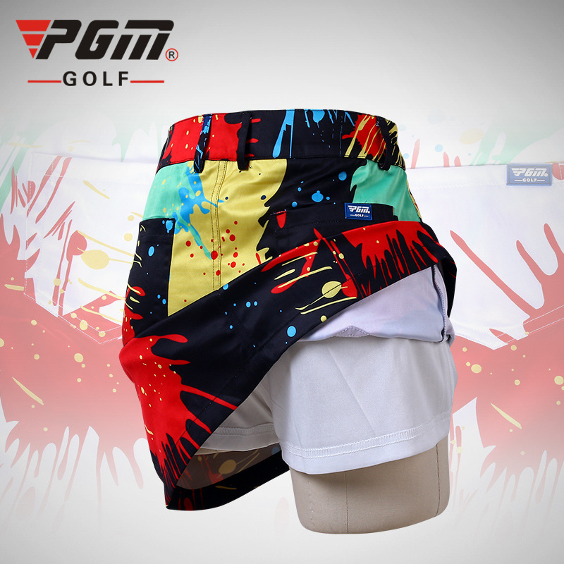 PGM Women Colorful Golf Shorts Brand Summer Printed Sport Skirt Breathable Sports Shorts Ladies Professional Golf Shorts Skirts