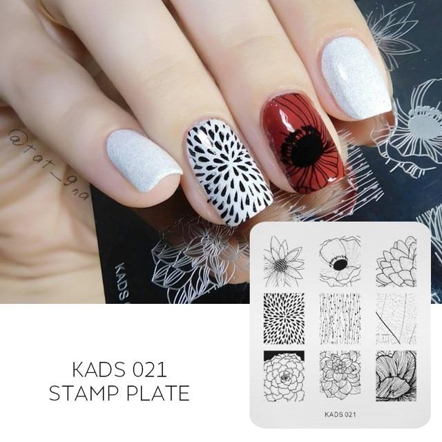 Online Shop KADS NEW Gorgeous Lotus Flower Nail Print Stencil Nail ...