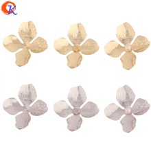 Cordial Design 50Pcs 41*45MM Jewelry Accessories/DIY Earrings Making/Flower Shape/Copper/Hand Made/Jewelry Findings Component