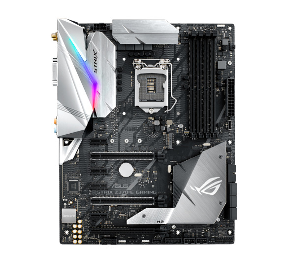 ASUS used  ROG STRIX Z370 E GAMING Raptor WiFi Z370 game motherboard  used 90%new Motherboards     - title=
