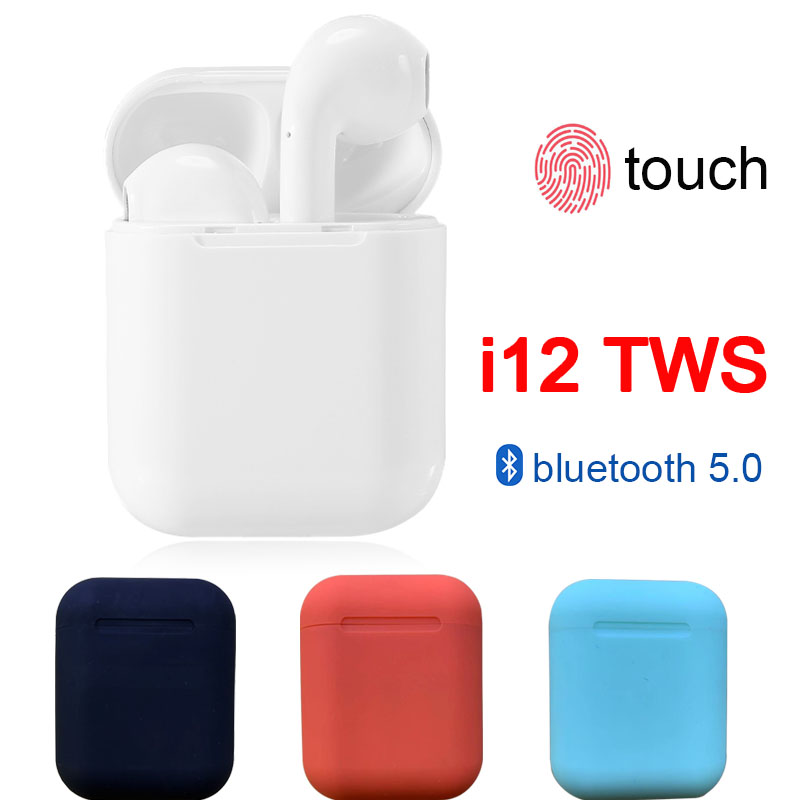 I12 Tws Bluetooth Earphone Touch Control Wireless Earbuds Earphone 3d Surround Sound With Charging Case Pk I10 I14 I20 I30 Tws