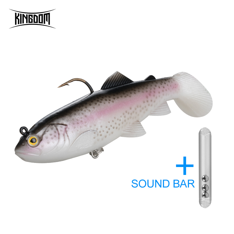 Kingdom Crazy Trout Fishing Soft Lure Silicone 12cm Lead Head PVC Pike Fishing Lures Swimming Soft Baits T-Tail Swimbait Wobbler