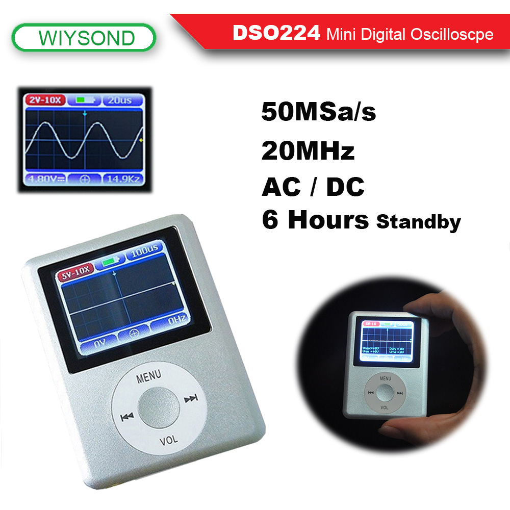 O114 20 Mhz 100msa S Mini Pocket Sized Porttil Handheld Lcd Digital Oscilloscope