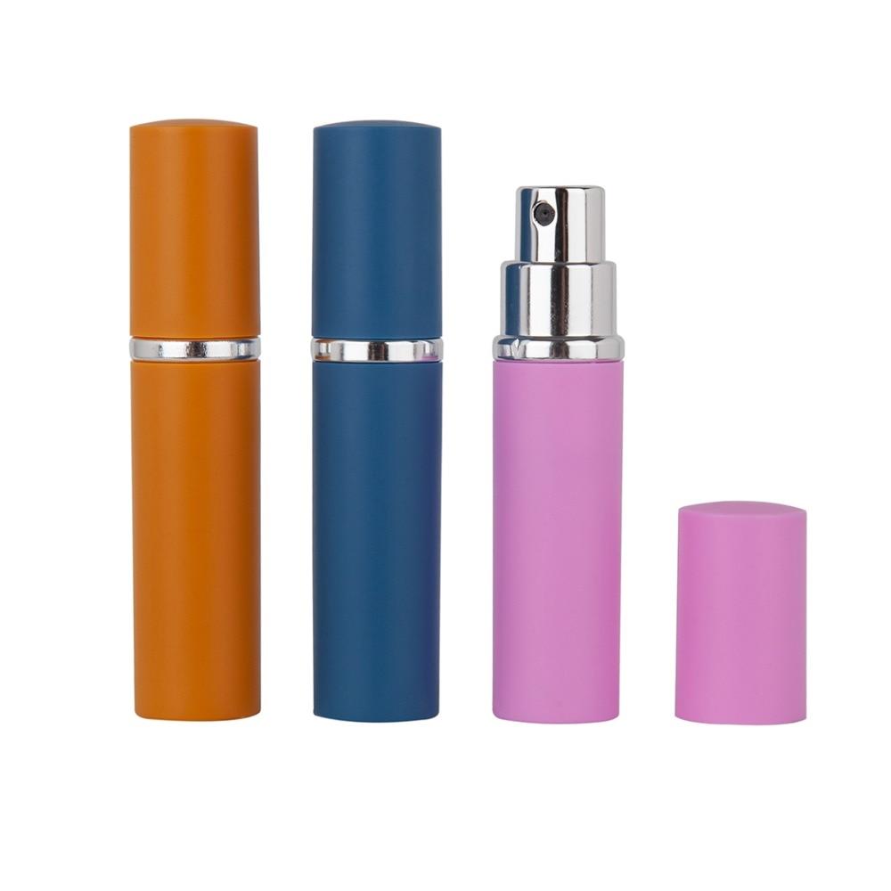 1pc 5ml Mini Refillable Perfume Atomizer Bottle With Spray Travel Spray Parfum Bottle Aluminum Perfume Bottle Cosmetic Container in Refillable Bottles from Beauty Health