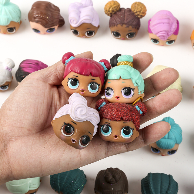 Hot Sale  LoL Little Sister Doll head  Toys For Kid Girls Birthday Chirstmas Gifts Dress Up Baby Action Figure Toy Supply
