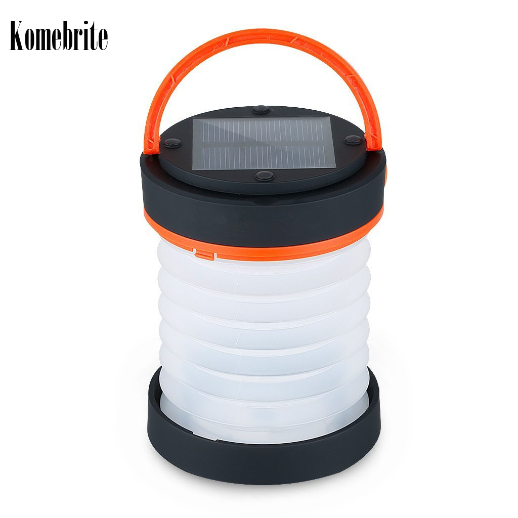 solar power LED Foldable camping light USB rechargeable solar lamp 3 Lighting Modes Solar Portable lantern solar Camping light super bright square portable solar lantern 4 modes rechargeable emergency led outdoor camping light black white