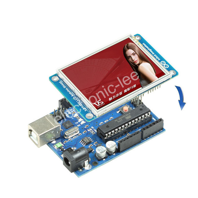 "3.2"" inch tft lcd shield + touch panel TF Reader"