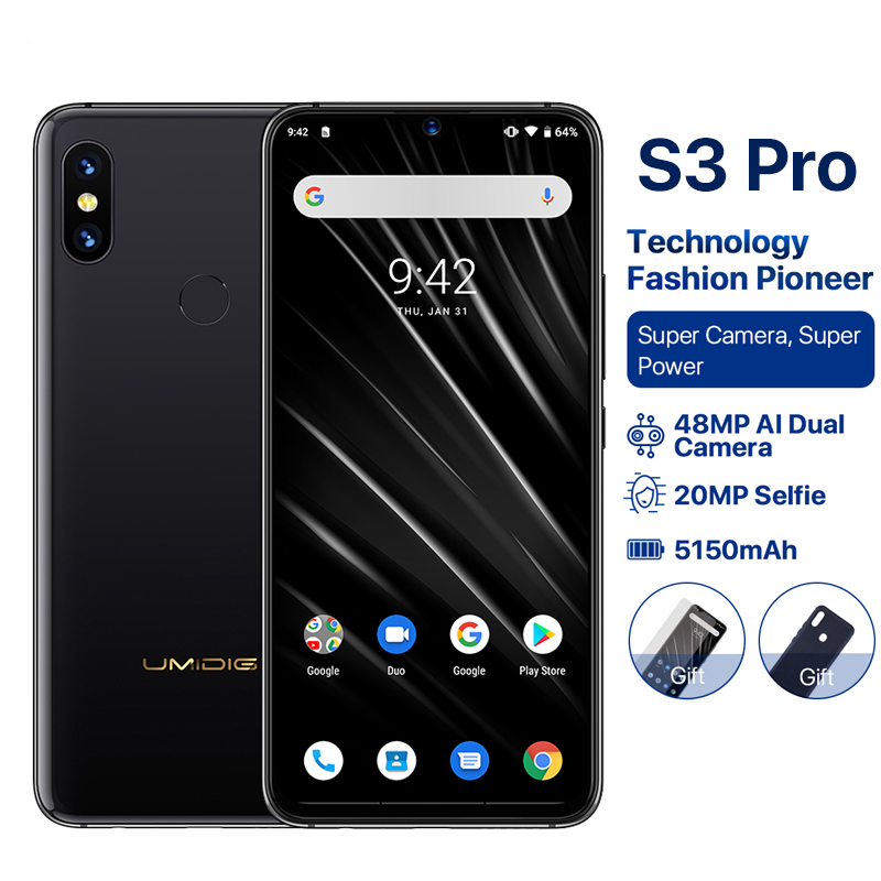 """Image 2 - UMIDIGI S3 PRO Android 9.0 48MP+12MP+20MP 5150mAh 128GB 6GB 6.3"""" NFC Global Version Smartphone unlocked octa core mobile phone-in Cellphones from Cellphones & Telecommunications"""