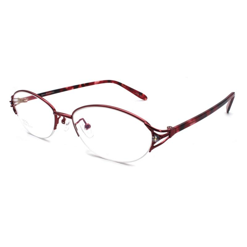 Handoer Half Rim Optical Glasses Frame for Alloy Eyewear Rimless Spectacles Prescription
