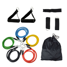 11pcs/set 100% Natural Rubber Pull Rope Tension Home Pilates Fitness Exercise Sports Resistance Bands Yoga Gym Workout Crossfit