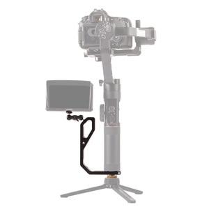 Image 5 - DIGITALFOTO L bracket with 3 hot shoe mount Handle magic arm for gimbal monitor Mic crane 2/MOZA/feiyu/Dji Ronin SC/ S/RS2/RSC2