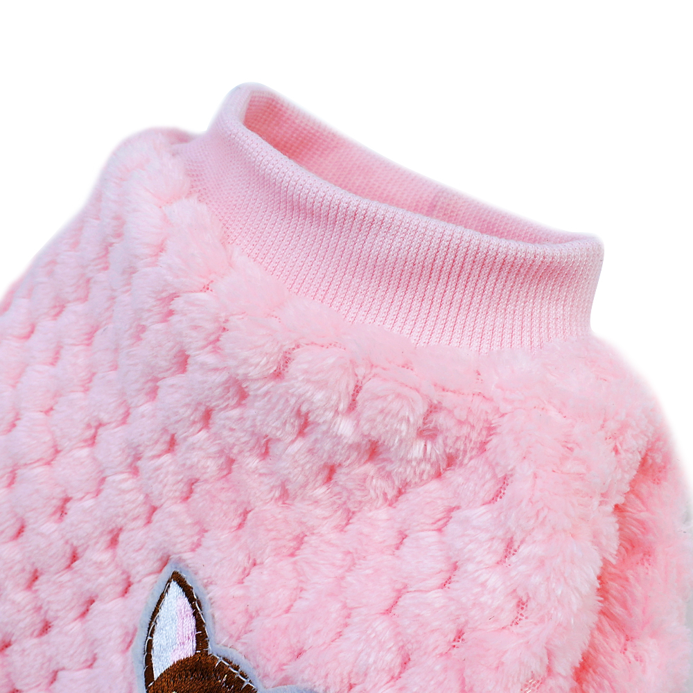 Warm Dog Jacket Made with Soft Fleece Material for Small and Medium Dogs 3