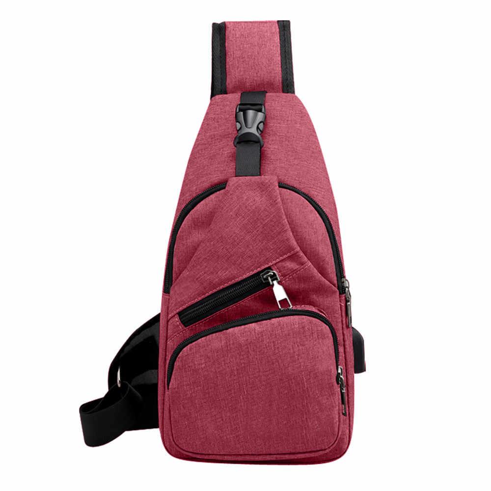 Мужские сумки через плечо нагрудные холщовые сумки унисекс модные многофункциональные сумки через плечо уличные повседневные нагрудные сумки USB Bolsas 6.6L3