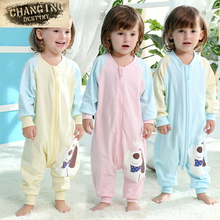 3 months-3 Years Old Children's Sleeping Bags Pure Cotton Cent Leg Thin Anti-kick Air Conditioning Was Baby Jumpsuit Pajamas