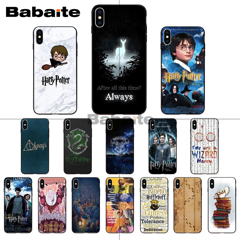 Harry Potter always Slytherin School quotes Coque Shell Phone cover Case for iPhone 8 7 6S Plus X XS MAX 5S SE XR Cover Babaite