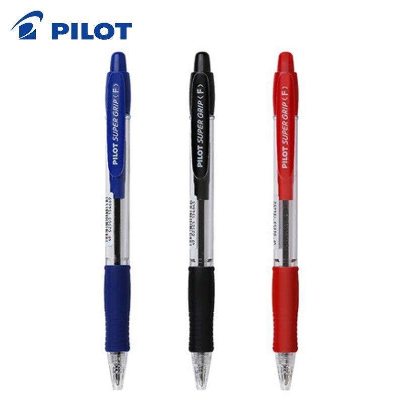 9 Pieces Pilot BPGP 10R SUPER GRIP Ballpoint Pens Ball Point Pen transparent plastic 0.7mm Office School Suppliesball penpen japan0.7 mm pen -