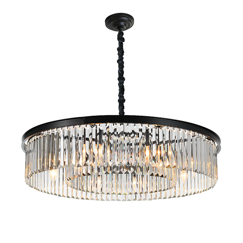 American crystal chandelier led living room bedroom Ceiling chandelier simple hotel creative personality retro pendant lamp