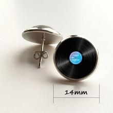 Vinyl record earrings / 2 Colors