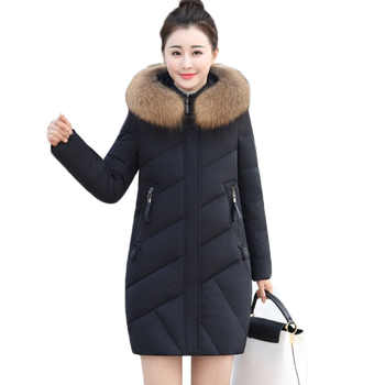 Women Parkas Winter Jacket New Fashion Fur Collar Hooded Outerwear Warm White Duck Down Cotton Jacket Plus Size Female Coats 440 - DISCOUNT ITEM  50% OFF All Category