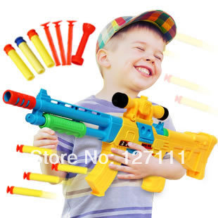 Free shipping Children's toy gun soft bullet gun boy toy  large size 55CM boy's gift