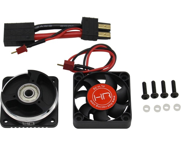 цена на Hot Racing Motor Heat Sink Plus Blower Fan for 1/7 Traxxas UDR Unlimited Desert Racer fit size 2200KV motors