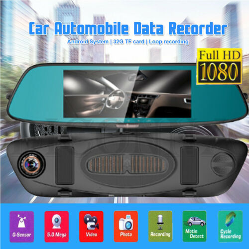 <font><b>2019</b></font> New 7 inch 1080P Wide Car Auto Camera DVR <font><b>Mirror</b></font> <font><b>Dash</b></font> <font><b>Cam</b></font> Recorder Kit image