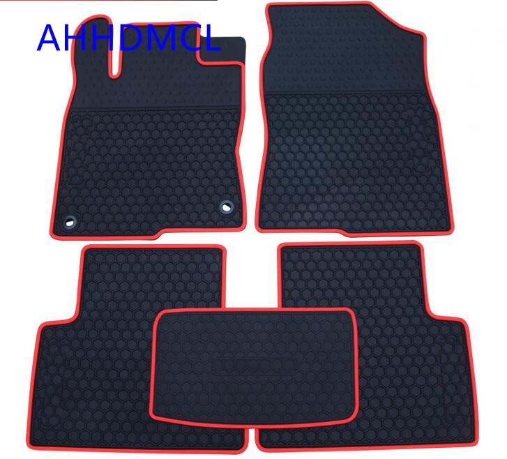 ahhdmcl car rubber floor mat non slip mats feet rugs for honda civic 10th generation 2015 2016. Black Bedroom Furniture Sets. Home Design Ideas