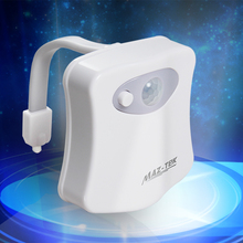 Motion Activated Toilet Night Light MAZ-TEK Bowl LED Lights 8 Color Sensor Lights Toilet lights