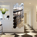 7 Piece Hexagon Acrylic Mirror Wall Stickers DIY Art Wall Decor Wall Stickers Home Decor Living Room Mirrored Decorative Sticker