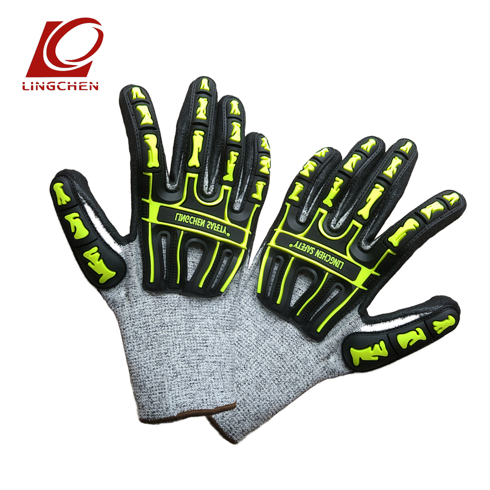 Outdoor Sports Bike Motorbike Riding Cycling Glove Hppe Tpr Level 5 Anti Cut Resistant Impact Gloves