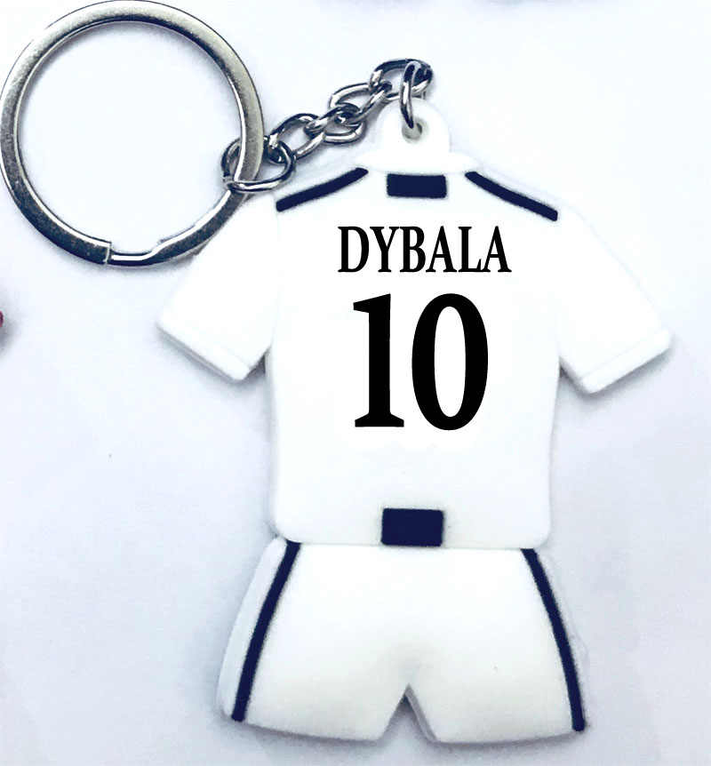 Paulo Dybala C.RONALDO Messi Football Keychain Gift Men Sport Women Loved Soccer Star Silver Keychains CR7 Fans Toy Bag Holder