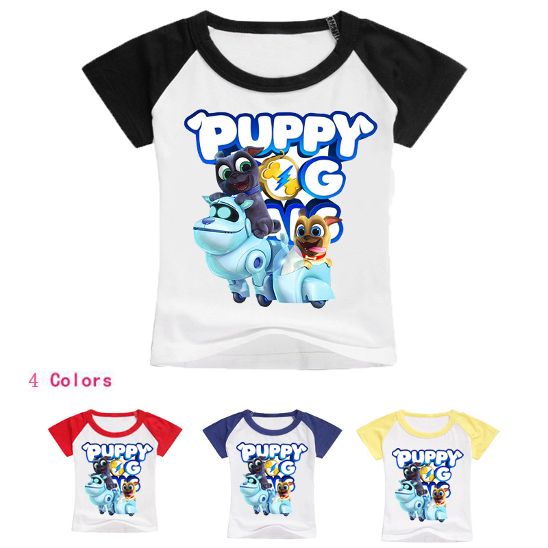 Z&Y 2-16Y New Pet Puppy Dog Pals T Shirts for Baby Girls Tops <font><b>Nova</b></font> Kids-tops Teenagers Boys Summer <font><b>Clothing</b></font> Short Sleeve Clothes image