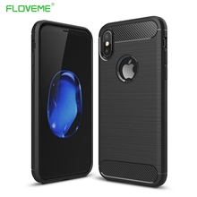 FLOVEME Fashion Texture Case For iPhone 6 6s 7 8 Plus Full Protective Case For iPhone X 5s 5 SE Shockproof TPU Cover Shells Capa noctilucent protective tpu case for iphone 5 5s green red