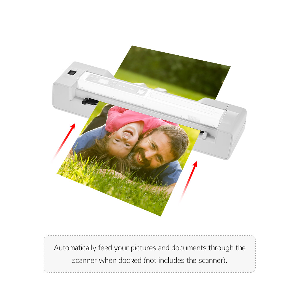 Portable Wand Scanner Base Auto Feed Dock 1200DPI for Skypix TSN450/ TSN470 File Scanner photos paper school teacher office 1pc al 310s 200rpm 450in lb110v 220v power table feed auto power feed vertical mill machine auto feeder