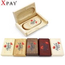 XPAY wholesale High Quality Wooden Logo Engrave Wood USB Flash Drive 4GB 8GB 16GB 32GB Gift Flash Memory Card Pen Drive