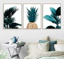 Nordic Pineapple Painting Wall Posters Cuadros Decoration And Prints Plant Art Poster Canvas No Photo Frame