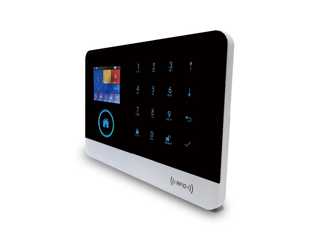 YobangSecurity Wi-Fi 3g WCDMA сигнализации Системы Французский Испанский Русский дома сигнализация Системы видео IP Камера детектор дыма огня