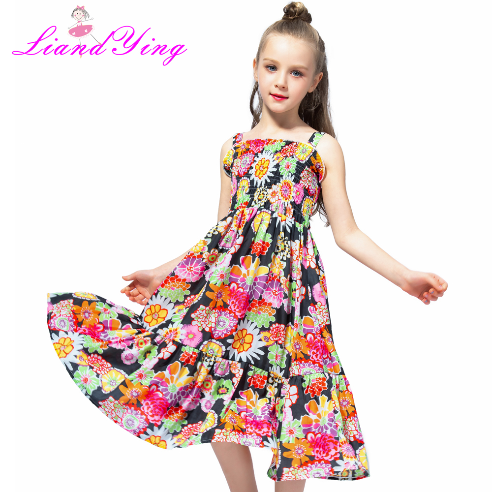 58bda0c6fb884 US $8.99 50% OFF|2018 Brand Bohemia Children Dress Girls Summer Floral  Party Dresses Toddler Clothing Kids 7 10 12 Years Old Girls Dress For  Baby-in ...