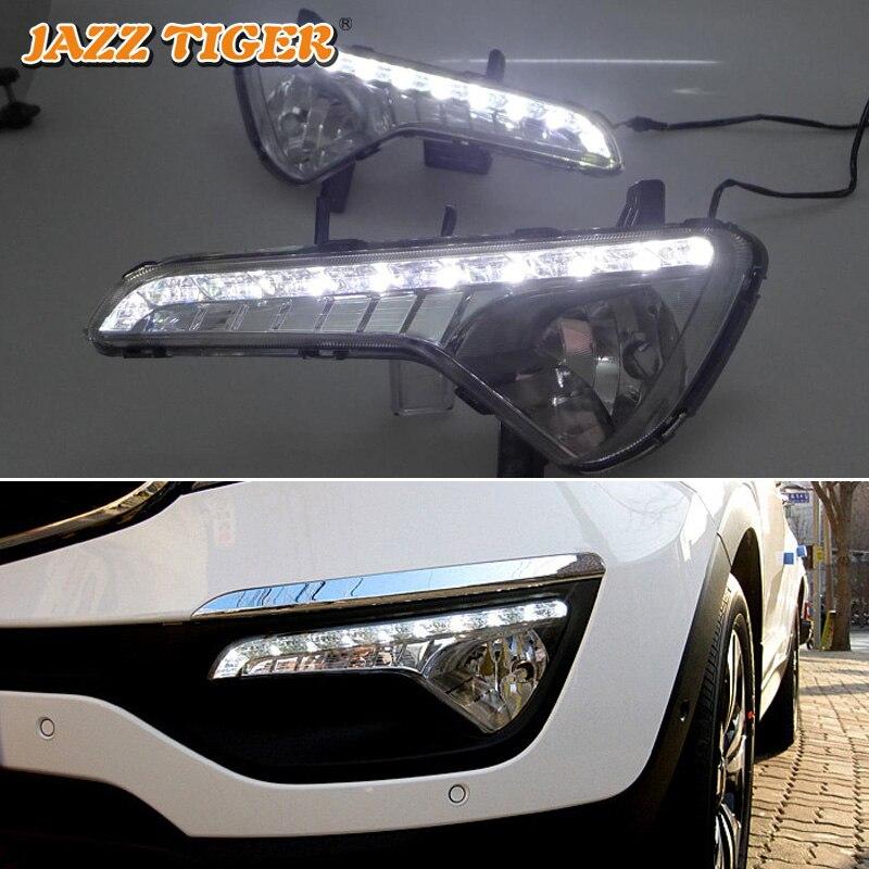 JAZZ TIGER Super Brightness Waterproof ABS 12V Car DRL Lamp LED Daytime Running Light For Kia
